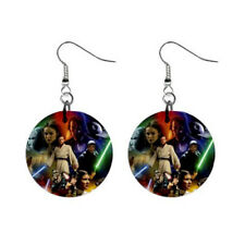 """New Best Star Wars for 1"""" Button Earrings Free Shipping"""