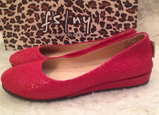NIB French Sole fs/ny ZEPPA RED LEOPARD Wedge Flats Shoes Womens 6 M