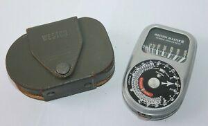 Weston Master III Manual Analogue Exposure Camera Light meter & Case Model 737