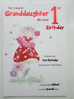 Petite-Fille 5 aujourd/'hui 5th Dressing up Design Happy Birthday Card Lovely Verset