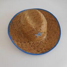 Chapeau osier SHERIFF fait main wicker hat handmade vintage art déco France
