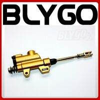 GOLD 10mm Banjo Back Rear Hydraulic Brake Master Cylinder PIT PRODirt Bike