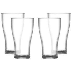 Elite Viking 20oz Pint Beer Glass Plastic Reusable Unbreakable - Fast Delivery