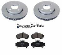 FOR MITSUBISHI COLT 1.1 1.3 FRONT BRAKE DISCS AND PADS 2005 TO 2013 TOP QUALITY