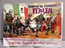 MONTAPLEX Sobre Grupos de Combate ITALIA 2ª GM soldaditos originales 70's airfix