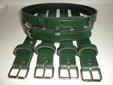 Coach built vintage pram real leather suspension straps in green