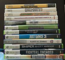 NINTENDO WII and XBOX 360 ($6 each)  You pick and choose games.