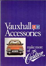 Vauxhall Carlton Accessories 1979 UK Market Foldout Sales Brochure