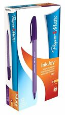 PaperMate Ballpoint Pen InkJoy Medium Point Purple Pack Writing Draw Clean Lines