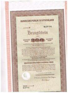 Set 6 Bundesrepublik Deutschland, Rights Certificate for Young Loan 1930, 360 De