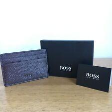 Hugo Boss Men's 'Traveller_S Card' Brown Leather Card Holder Wallet, 50311790