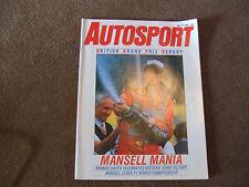 Autosport 17 July 1985 British GP Porsche 944 Turbo Test TCC Nurburgring