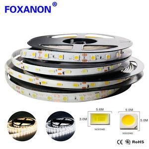 5M 10M led strip 5050 5630 waterproof Lights Flexible RGB String Light  12V