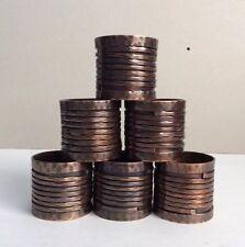 Set of 6 Vintage Round Decor Copper Brass Napkin Rings