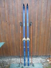 """New listing Ready to Use Cross Country 79"""" Karhu 205 cm Skis Waxless Base + Poles"""