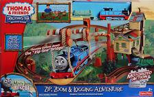 Fisher-Price Thomas & Friends TrackMaster ZIP ZOOM LOGGING ADVENTURE Railway NEW