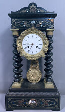 New Listing19thC Antique French Victorian Old Japy Freres Barley Twist Portico Mantel Clock