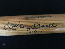 Mickey Mantle No. 7 Signed Louisville Slugger Little League Bat