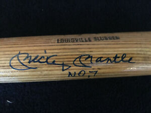 Mickey Mantle No. 7 Signed Louisville Slugger Little League Bat