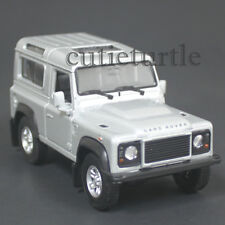 """4.25"""" Welly Land Rover Defender Diecast Toy Car Silver"""