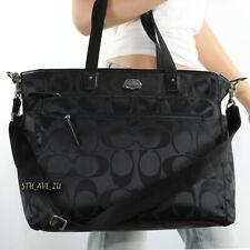 🌸NWT Coach Signature Nylon Multifunction Diaper Baby Bag Tote F77577 Black New