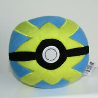 "TOMY Pokemon Trainer Poké Ball        Quick Ball   5"" Inch Plush Toy"