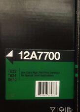 HUGE LOT of 10 Genuine Sealed Lexmark 12A7700 Toner Cartridge T632 T634 X632