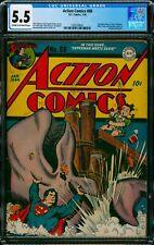 Action Comics #68 CGC 5.5 DC 1944 WWII Hitler Cameo! Golden Superman Cover M4 cm
