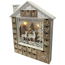 Wooden House Scene LED Advent Calendar With LED Christmas Gift decorations