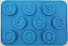 Round Numbers Silicone Mold for Fondant, Gum Paste, Chocolate, Crafts