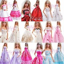 Lot 15 Items = 5 Pcs Cute Handmade Dresses & Clothes 10 Shoes For Barbie Doll