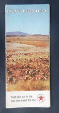 1965 New Mexico  road  map Texaco  oil gas route 66 Santa Fe