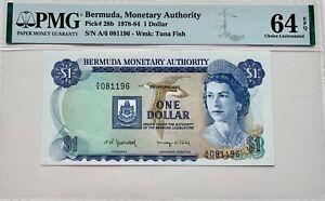 Bermuda 1 Dollar 1978-84 PMG 64 EPQ Pick #28b