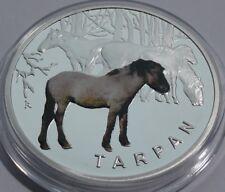 2010 Poland Polen Colored Numismat Silver 925 HORSE TARPAN PROOF + COA