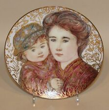 1993 Edna Hibel Jacqueline and Renee Third Mother's Day Plate 224/500 in Box