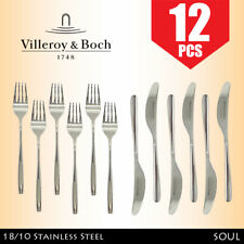 Villeroy & Boch Soul 12 Piece Fork + Knife Cutlery Set - 18/10 Stainless Steel