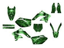 2006 2007 2008 KX 450F graphics Kawasaki KXf450 kit #6666 Green Skull