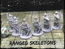 Ranged Skeletons Set of 6 Miniatures 28mm Dungeons and Dragons DnD Mini