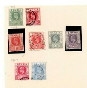A very nice mint unused & used Aden Gambia page