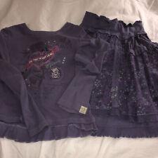 Naartjie Size 10 Purple Top and Matching Skirt Set, Xxxxl, 10, Euc