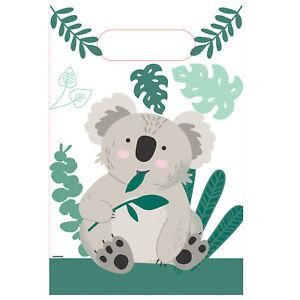 8 x Koala Bear Paper Party Loot Treat Favour Bags