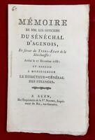 Lot et Garonne en 1788 Agen États Généraux Révolution Française Martinelly