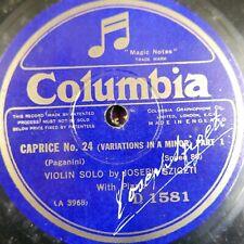 78 rpm SZIGETI paganini caprice 24 , a minor variations D 1581