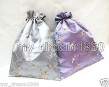2pcs Chinese Classic Embroidered Silk jewelry Pouch/Coin Purse Shoes Rope Bags