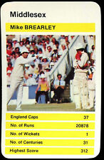 Mike Brearley Middlesex 1980 County Cricket Top Trump Card (264)