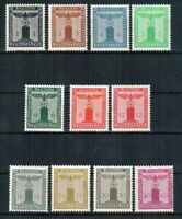 THIRD REICH Mi. #144-154 scarce mint MNH stamp set! CV $180.00