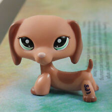 LPS COLLECTION #2046 Figure Peach Brown Dachshund LITTLEST PET SHOP TOY 2""