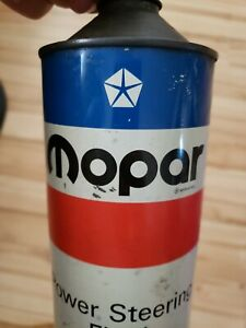 Vintage 1972 Mopar Power Steering Oil ,Old Cone Top Tin Can