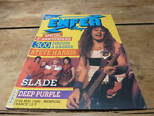 STEVE HARRIS - SLADE - DEEP PURPLE - RAMONES - Enfer magazine N°24 de 1985