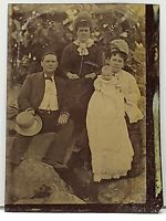 Tintype Photo Family Baby in Long Gown Tinted Photograph TT20